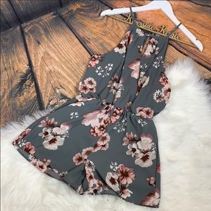 J for justify • Floral Romper